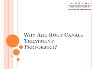 Why Are Root Canals Performed!