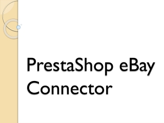 PrestaShop eBay Connector