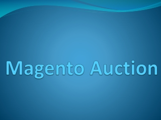 Magento Auction