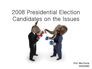 2008 Presidential Election Candidates on the Issues