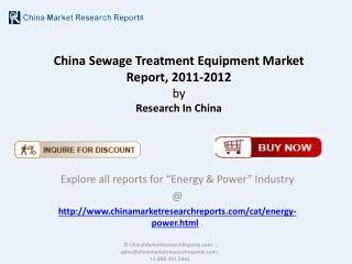 Sewage Treatment Equipment Market of China