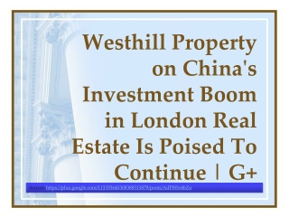 Westhill Property on China's Investment Boom