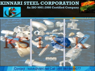 Kinnari Steel Corporation - Tube Fittings Specialists