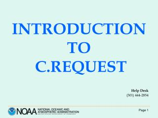INTRODUCTION TO C.REQUEST