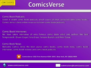 Comic Book Interviews