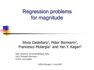 Regression problems for magnitude