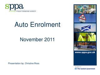 Auto Enrolment November 2011