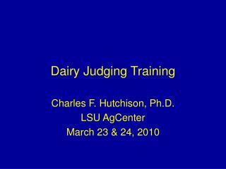 Dairy Judging Training
