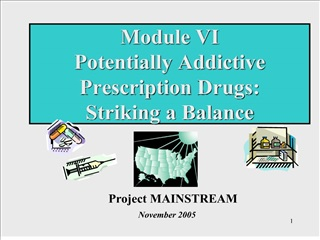module vi  potentially addictive prescription drugs:  striking a balance