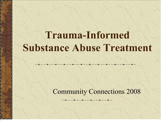 trauma-informed  substance abuse treatment
