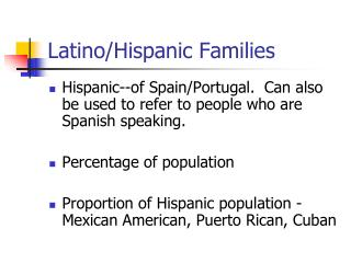 Latino/Hispanic Families