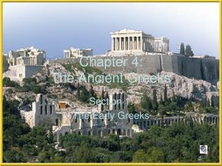 Chapter 4:   The Ancient Greeks