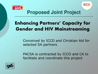 Proposed Joint Project