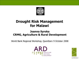 Drought Risk Management  for Malawi