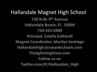 Hallandale Magnet High School