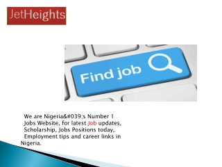 Best Job Vacancies in Nigeria