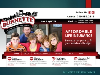 Burnette Insurance Group - Services