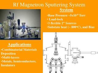 Rf Magnetron Sputtering System