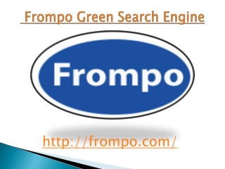 Frompo Green Search Engine