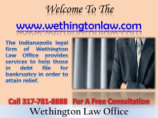 Bankruptcy Attorney Indianapolis- Foreclosure Attorney- Debt Relief