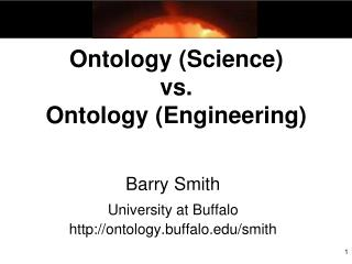 Ontology (Science) vs. Ontology (Engineering)
