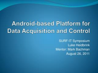 Android-based Platform for Data Acquisition and Control