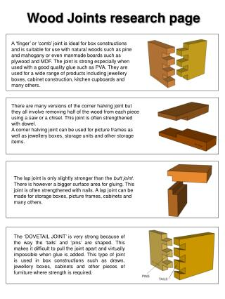 Wood Joints research page