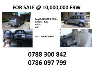 FOR SALE @ 10,000,000 FRW