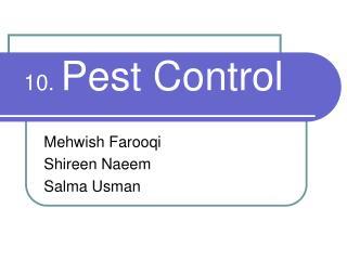 10. Pest Control