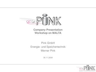 Company Presentation Workshop on MALTA