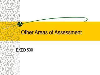 Other Areas of Assessment