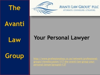 The Avanti Law Group: Your Personal Lawyer