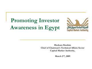 Promoting Investor Awareness in Egypt