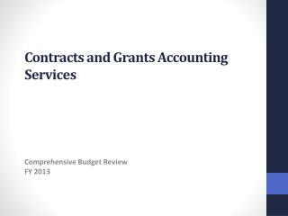 Contracts  and Grants Accounting Services