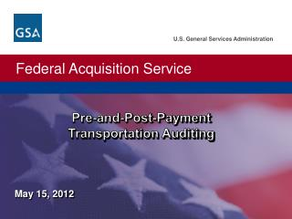 Pre-and-Post-Payment                  Transportation Auditing
