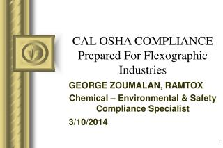 cal osha compliance prepared for flexographic industries