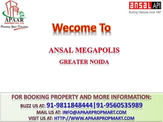 Greater Noida Apartments Greater Noida Floors@9811848444 Ans