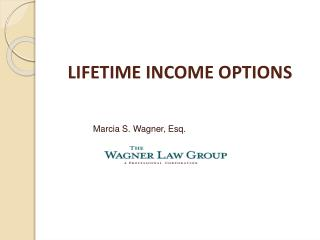 LIFETIME INCOME OPTIONS