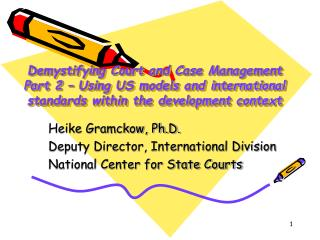 Demystifying Court and Case Management Part 2 – Using US models and international standards within the development con