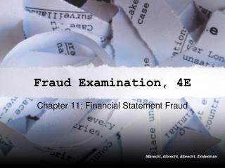 Fraud Examination, 4E