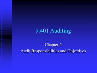 9.401 Auditing