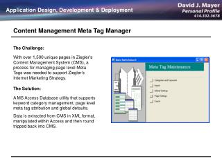 Content Management Meta Tag Manager
