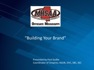 """Building Your Brand"""