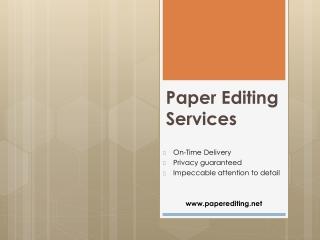 paper editing service