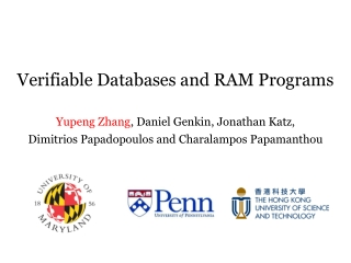 Verifiable Databases and RAM Programs