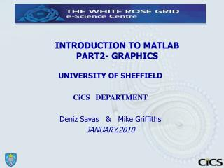 INTRODUCTION TO MATLAB  PART2- GRAPHICS