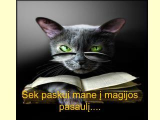 Sek paskui mane į magijos pasaulį....