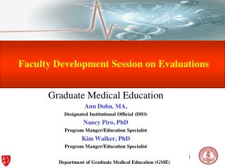 Faculty Development Session on Evaluations