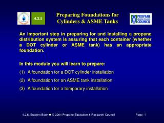 Preparing Foundations for Cylinders  ASME Tanks