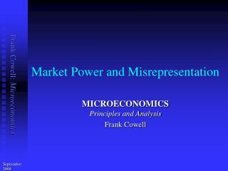 Market Power and Misrepresentation